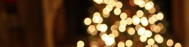 ID church Christmas tree lights